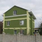 Вариант оливкового современного фасада