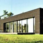 Вариант современного фасада квадратной формы