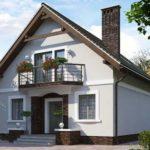 Вариант современного фасада с применением балкона