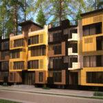 Фасад четырехэтажных домов