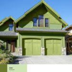 Зеленый цвет для оформления фасада