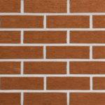 Красная красивая плитка для фасада