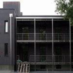 Плитка черного цвета для создания фасада