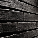 Плитка для обустройства современного фасада в черном цвете