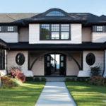 Пример красивого фасада с помощью черной плитки
