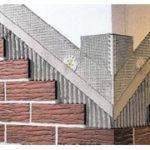 Пример отделки фасада с помощью красной плитки