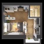 Как визуально увеличить пространство однокомнатной квартиры?