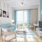 Квартира в морском стиле: советы, сочетания