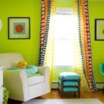 Салатовый цвет в интерьере дома, сочетание оттенков