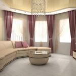 Оформление эркера шторами: идеи для зала и кухни