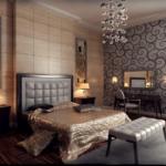 Интерьер спальни в стиле модерн — сочетание несочетаемого
