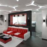 Хай тек в дизайне квартире