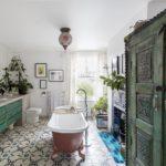 Интерьер ванной комнаты в стиле бохо
