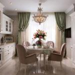 Интерьер кухни в классическом стиле — показатель изысканного вкуса