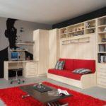 Современный диван-шкаф-кровать трансформер, самая стильная модель