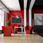 Авангардный дизайн помещения