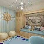 Морской интерьер в квартире идеи дизайнеров