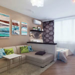 Красивый и бюджетный ремонт в однокомнатной квартире