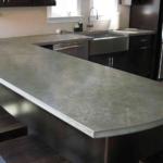 Стильная бетонная столешница для кухни