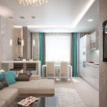 Стильные решения для гостиной 18 квадратных метров