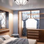 Как обустроить узкую спальню