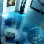 Креативные варианты 3D пола в квартире