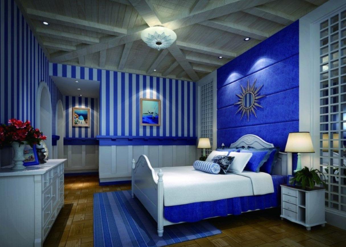 Картинки комнаты в синих тонах
