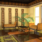 Египетский стиль в интерьерах