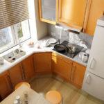 Кухня 6 квадратов с посудомойкой, холодильником, газовой поверхностью, духовкой