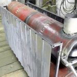 Отопительная батарея на дровах из газовых баллонов