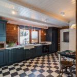 Дизайн кухни: шахматная отделка