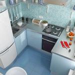 Как на 4 кв.м. организовать красивую функциональную кухню
