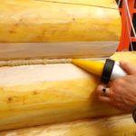 Теплый шов – утепляем деревянный дом