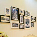 Креативные идеи для размещения фоторамок в квартире