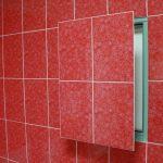 Правильный монтаж ревизионного люка в ванной комнате