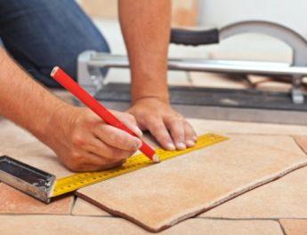 Как резать напольную плитку по диагонали