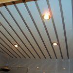 Как установить последнюю рейку реечного потолка