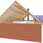 Как сделать двухскатную крышу с висячими стропилами