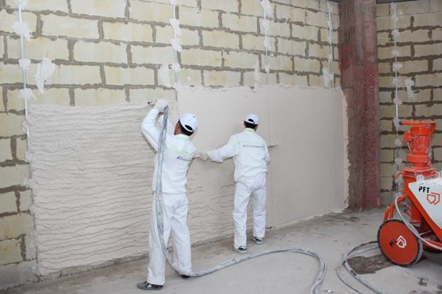 Качества машинной штукатурки стен