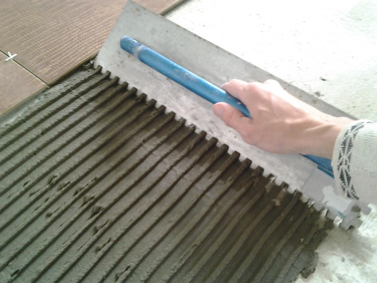 Добавить в цементный раствор плиточный клей лофт бетон кухня