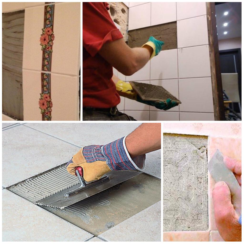 клеить плитку цементным раствором