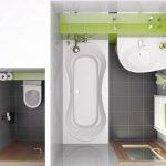 Как разделить ванную с туалетом и не потерять лишние сантиметры
