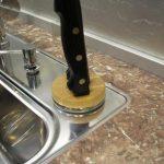 Как сделать аккуратный стык столешницы и фартука из плитки