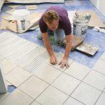 Какой метод укладки плитки самый сложный для новичков