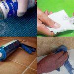 Как удалить остатки жидких гвоздей с обоев
