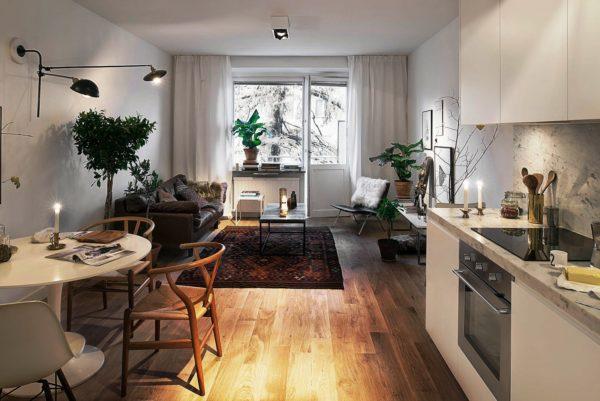 Обустройство кухни в квартире-студии