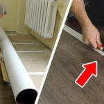 Как постелить линолеум в комнате, не убирая из нее всю мебель