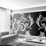 В каких случаях можно использовать для отделки стен в гостиной монохромные обои