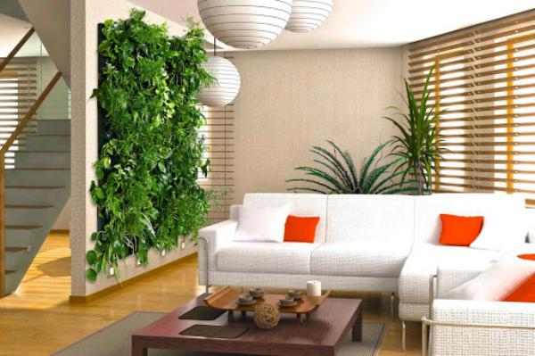 Почему зелень на стене в интерьере набирает популярность