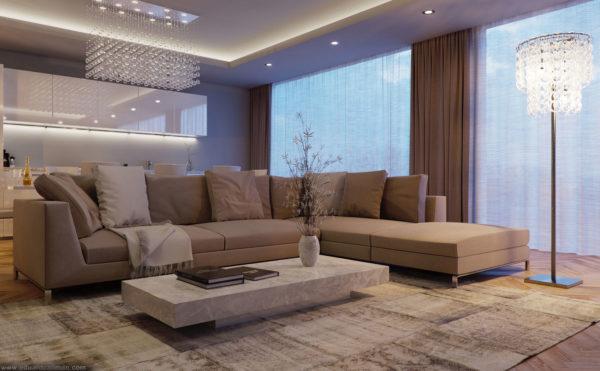 Почему огромный диван в интерьере дизайнеры не часто используют